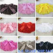 SOLID COLOR Multi-list Pettiskirt Skirt Petti Party Dance Tutu Dress girl 1-7 Y