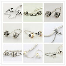 925 Sterling Silver Safety Chain Series A fits European Bead Charm Bracelet