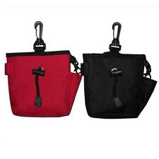 Dog Pet Treat Training Bait i-click Ball Pouch Clicker Waist Bag RED / BLACK NEW