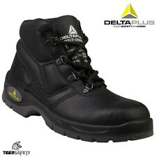 Delta Plus Panoply Jumper 2 S1 Black Leather Mens Safety Toe Cap Work Boots UK