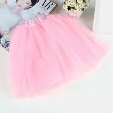 Kid Girl Dance Skirt Princess Dressup Pettiskirt Ballet Party Dancewear T7