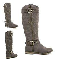 LADIES WOMENS BNIB RIDING BIKER ZIP PULL ON BIKER FLAT BOOTS SHOES SHOE SIZE