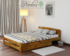 *NODAX* New Wooden Pine 4ft Small Double Bedframe/Select Underbed Storage - ONE
