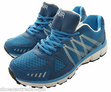 Mens Airtech Orbit 2 Lot 1 Blue/Black Running Sport Trainers Great Support Shoe