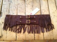 "Lovestrength 3"" Chocolate ""Jimmi"" Stretch Fringe Belt REG. $71.00"