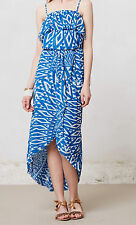 Sweet Pea Mesh Ruffled Azul Dress Size S, M, L Blue Motif NW ANTHROPOLOGIE Tag