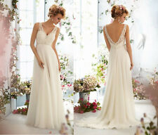 New Chiffon Long Evening Formal Party Ball Gown Prom Bridesmaid Dress Size