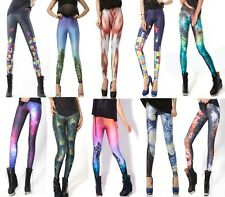 2 sizes Jolie Slim/Big Pants Leggings Galaxy Grande Taille S/M L/XL  Pretty New