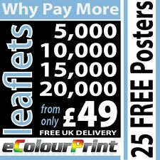 Printed Colour leaflets / flyers on 150gms - A4, A5, A6 or DL