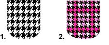 Full Nail Decals Set of 10 - Houndstooth Full Nail