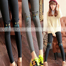 New Autumn Style Legging For Women Cute Embroidery Cat Fashion Legging