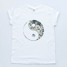 YING YANG NEW HIPSTER TSHIRT Indie Vintage Retro Hype Sk8 Mens Womens Floral Top