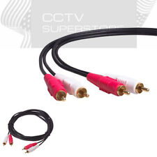 Dual 2 RCA Male to 2 RCA Male Audio Stereo Cable 3ft 6ft 10ft 12ft 25ft DVD HDTV