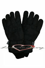 Mens Padded Thinsulate Gloves Ski Biker Winter Warm Outdoor Thermal Lined 40Gram