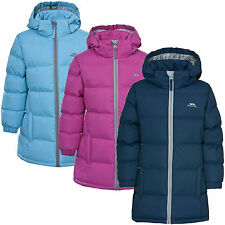 Trespass Tiffy Girls Puffa Jacket Childrens Padded 2 - 13 yrs School Coat