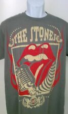 THE ROLLING STONES BAND T-SHIRT GREY NEW SM-XL