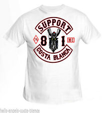 1C Biker White Support81 Big Red Machine 1% Hells Angels Costa Blanca Spain 666