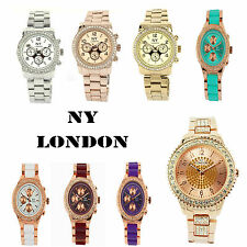 Women's NY London Fashion Analogue Watch Bling Diamonte Crystal Bezel Gift Boxed