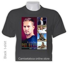 PAUL WALKER T shirt - IN LOVING MEMORY   1973 - 2013  AMERICAN ACTOR - COLLAGE