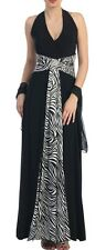 Plus Size 14-16-18-20-22 Black Cocktail Evening Formal Maxi Halter Dress Gown