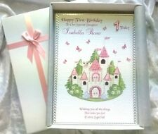Special Girls Fairytale Princess Birthday Card handmade personalised keepsake