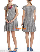 NWT Anthropologie Jacquard Circle-Skirt Dress By Maeve, XS Cute Comfortable RARE
