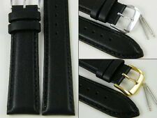 HQ XL 22 28 MM BLACK ITALY GENUINE LAMBSKIN WATCH BAND LENGTHENED STRAP 12~28 mm