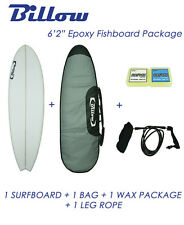 "NEW Billow 6'2"" Epoxy Fish Surfboard, Matte Finish. Package with 5xFCS fins"