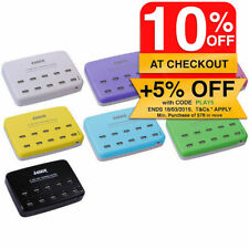 LASER USB 10 Port Charging Station/Charger for iPad Air/iPhone 5s 6S Plus/iPod