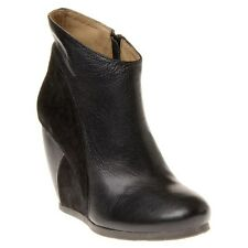 New Womens Fly London Black Buda Suede Boots Ankle Zip