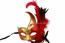 Pretty Ostrich Feather New Year Masquerade Mask Costume Prom Christmas Party