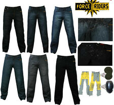 Mens motorbike Denim Trousers jeans with protective lining -WATER RESISTANT