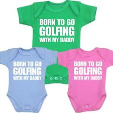 Baby Clothes GOLFING Daddy Vests One-Pieces Creepers Boys Girls Shower Gifts