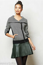 NEW Anthropologie Moto Sweater Jacket By Sparrow $148 Sz L Lovely thick sweater