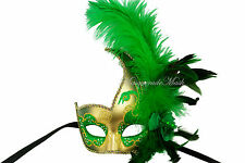 Fancy Ostrich Feather Masquerade Mask Costume Party Halloween Christmas Mask