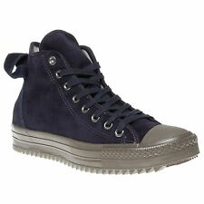 New Mens Converse Blue Hollis Suede Trainers Hi Top Lace Up