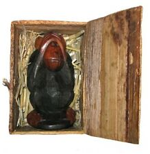My Pet Wise Monkey In A Basket Wooden Carving Boxed - You Choose Design
