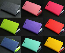 New Deluxe Wallet Leather Flip + Tpu Skin Case Cover Stand For HTC ONE M7