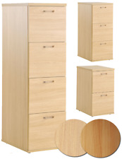 Eco Office Filing Cabinet | 2, 3 or 4 Drawer | Beech or Blonde Oak
