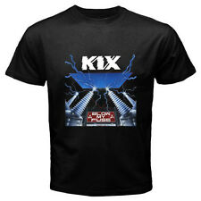 "New KIX ""Blow My Fuse"" Glam Rock Band Classic Men's Black T-Shirt Size S to 3XL"
