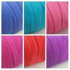 """5 / 10 yards 13 different color fold over elastic foe  trim 5/8"""" W ship from USA"""