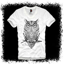 E1SYNDICATE V T SHIRT OWL EULE HIPSTER BLOGGER WASTED YOUTH PARIS A ELEVEN S/M/L