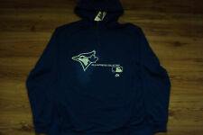 TORONTO BLUE JAYS MAJESTIC AC CHANGE UP 1/4 ZIP THERMA BASE HOODED SWEATSHIRT