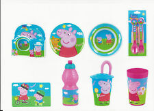 PEPPA PIG Melamine Dining Sets & Plates, Bowls, Cutlery, Cups Lots of Choice