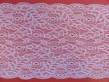 "*The Place For Lace* Pretty White Vintage Inspired Wide Lace Trim 7""/18cm Sewing"
