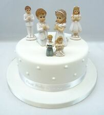 First Holy Communion Girl or Boy Cake Toppers, Diamante Cross and Ribbon Sets