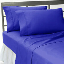 EGYPTIAN BLUE SOLID DUVET SET BED SKIRT 1000TC 100%  EGYPTIAN COTTON CHOOSE SIZE