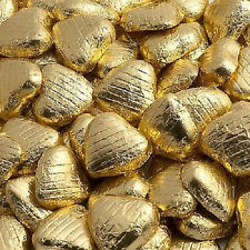 GOLD FOIL WRAPPED CHOCOLATE FOILED LOVE HEARTS WEDDING VALENTINES PARTY FAVOURS