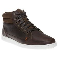 New Mens Hub Brown Mark Leather Boots Chukka Lace Up