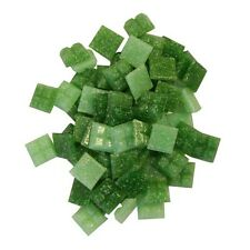 1cm x 1cm vitreous glass tiles for mosaics, art and craft - mix of greens